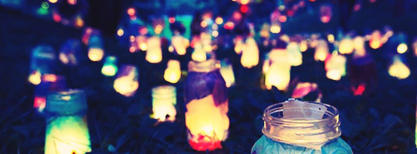 Candle Lights At Night Facebook Cover Photo Justbestcovers