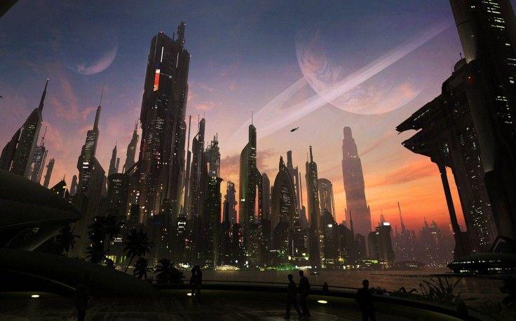 digital Art Concept Art Urban Cityscape City Futuristic Matte