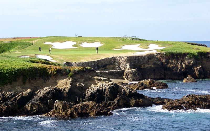 The Eighth At Cypress Point Club Is A Short Par Four That Doglegs Right Past Trees To An Uphill Green
