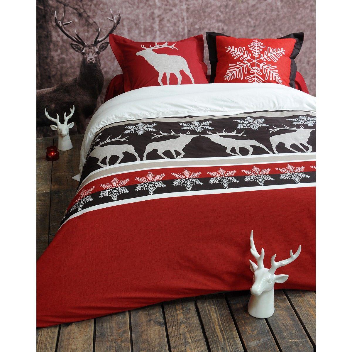 housse de couette cerf style chalet id es cadeaux de. Black Bedroom Furniture Sets. Home Design Ideas