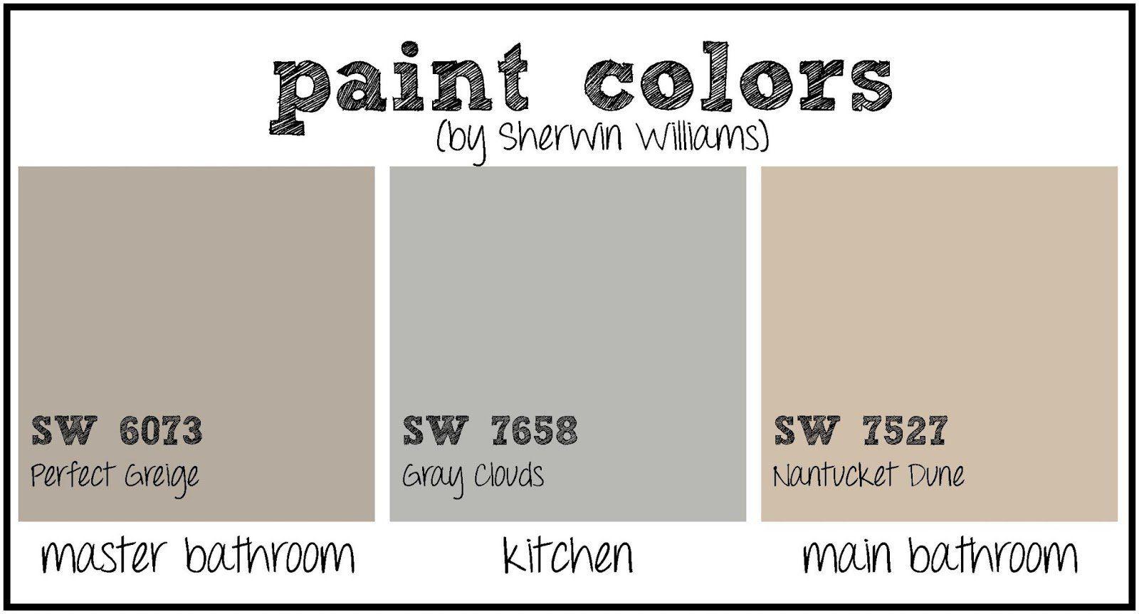 kitchen paint color and bathroom paint color sherwin williams rh pinterest com