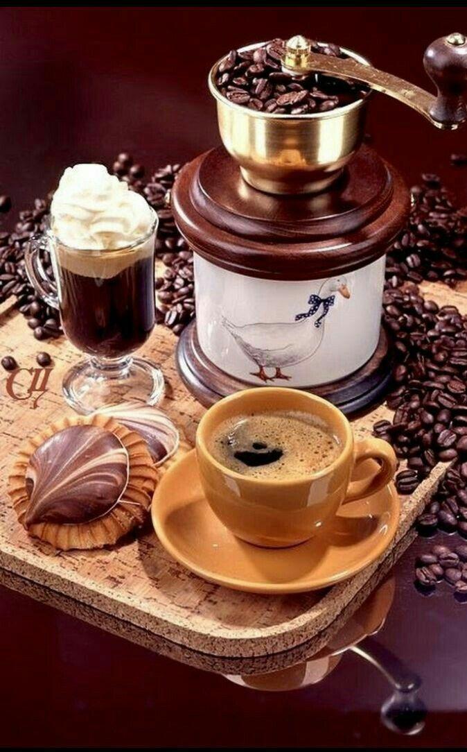 Открытка по кофе, младшему лейтенанту полиции
