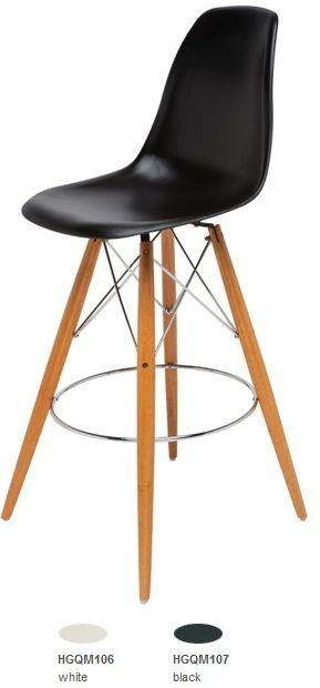 Unique Eames Molded Plastic Bar Stool