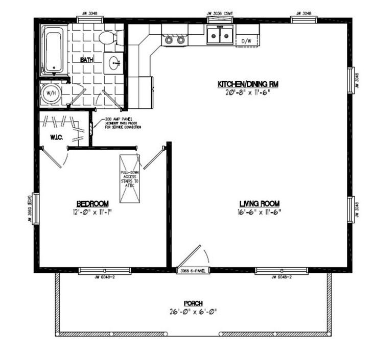 24x30 Floor Plan 24x30 Musketeer Certified Floor Plan 24mk1501 Cottage House Plans Cottage Floor Plans New House Plans