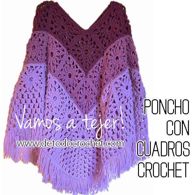 Todo crochet | Ponchos chales bufandas y gorros | Pinterest | Cuadro ...