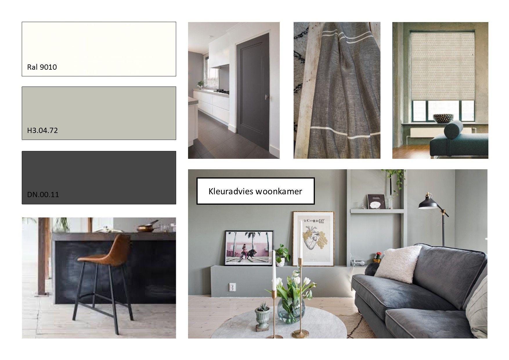 kleuradvies woonkamer antraciet grijs groen, ofwhite. | Kleuren ...