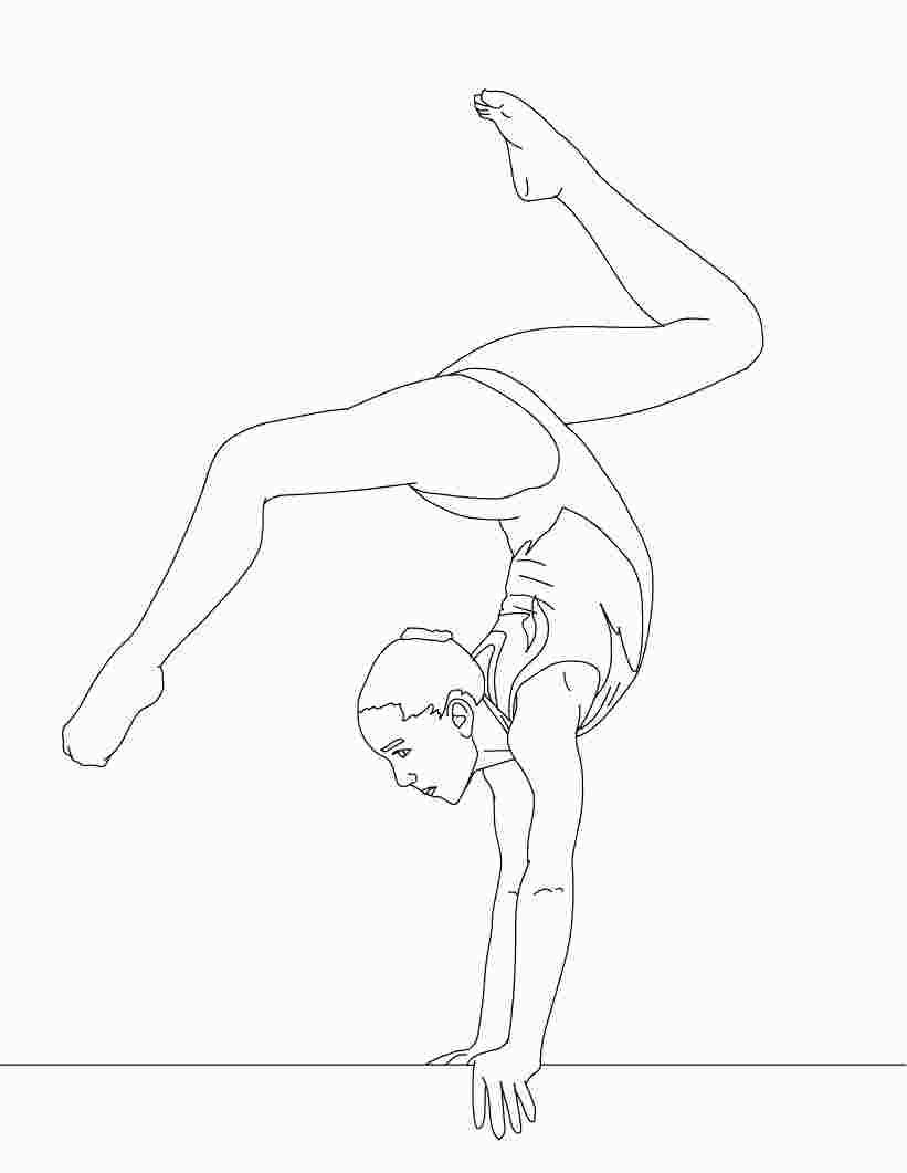 Hard Gymnastics Coloring Pages Coloring Pages Dance Coloring Pages Sports Coloring Pages