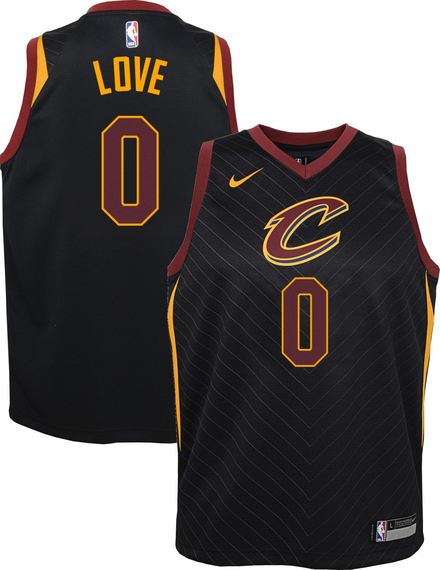 check out 53636 34039 Nike Youth Cleveland Cavaliers Kevin Love #0 Black Dri-FIT ...