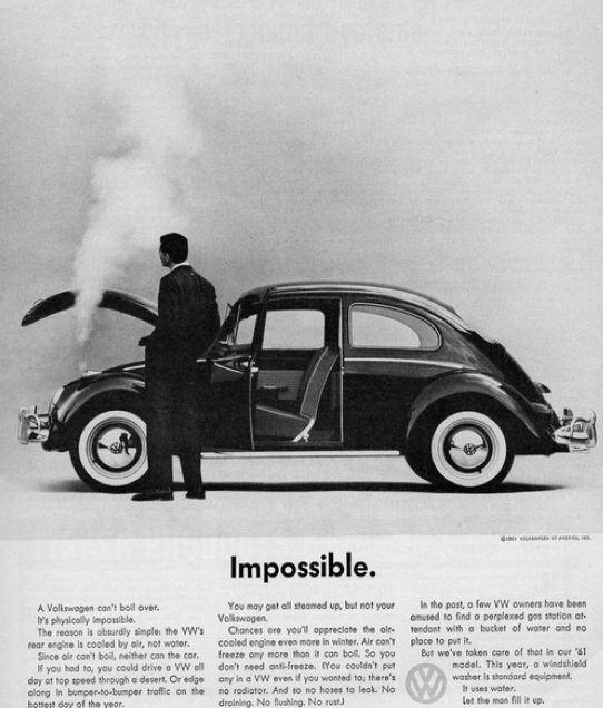 a car can't boiled over, if you had to you could drive vw