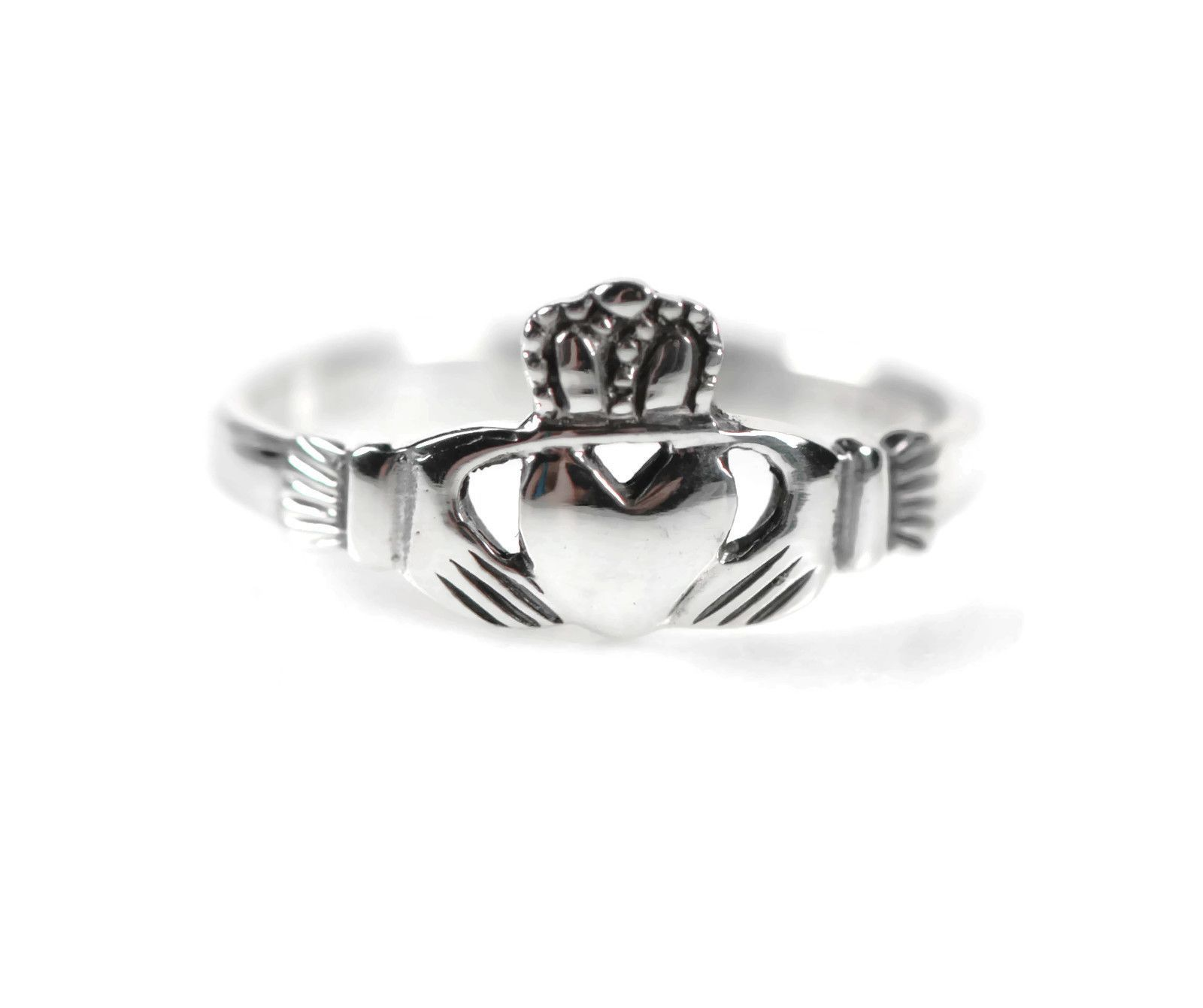 Small Sterling Silver Claddagh Ring