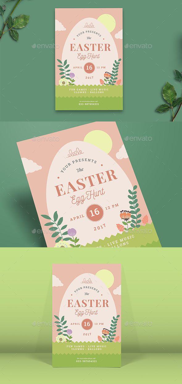 Easter Egg Hunt Flyer Easter eggs, Flyers and Ai illustrator