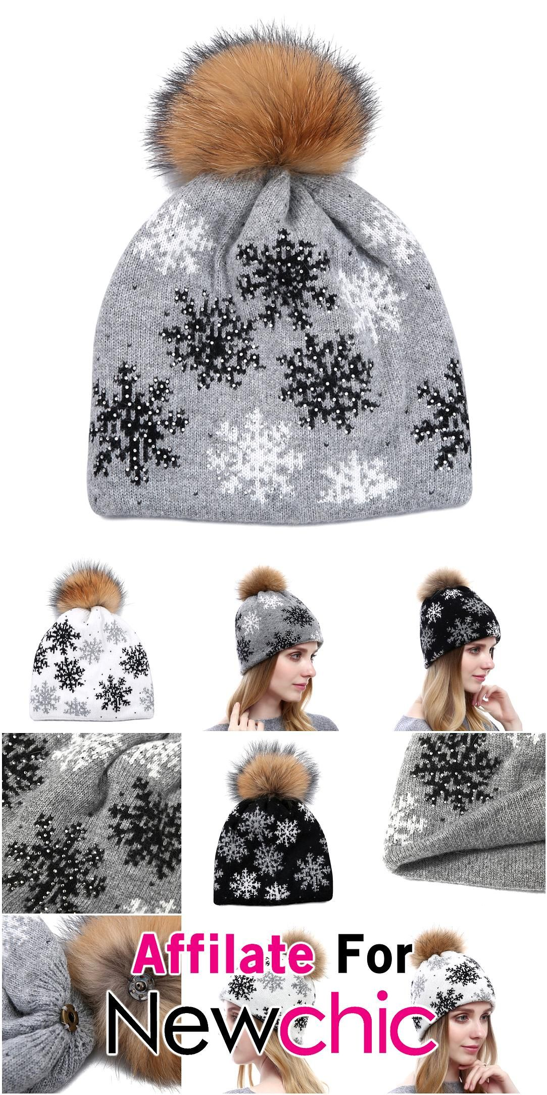 Women Raccoon Fur Pompoms Knitted Hat Skullies Winter Warm Double Lining Design Beanies Hat USD 209 Women Raccoon Fur Pompoms Knitted Hat Skullies Winter Warm Double Lini...