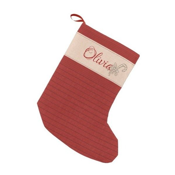 Cute Custom Red Stripes Rustic Christmas Stocking ($23) ❤ liked on Polyvore featuring home, home decor, holiday decorations, christmas, rustic holiday decor, personalized christmas stockings, red home accessories, red home decor and personalized red christmas stockings