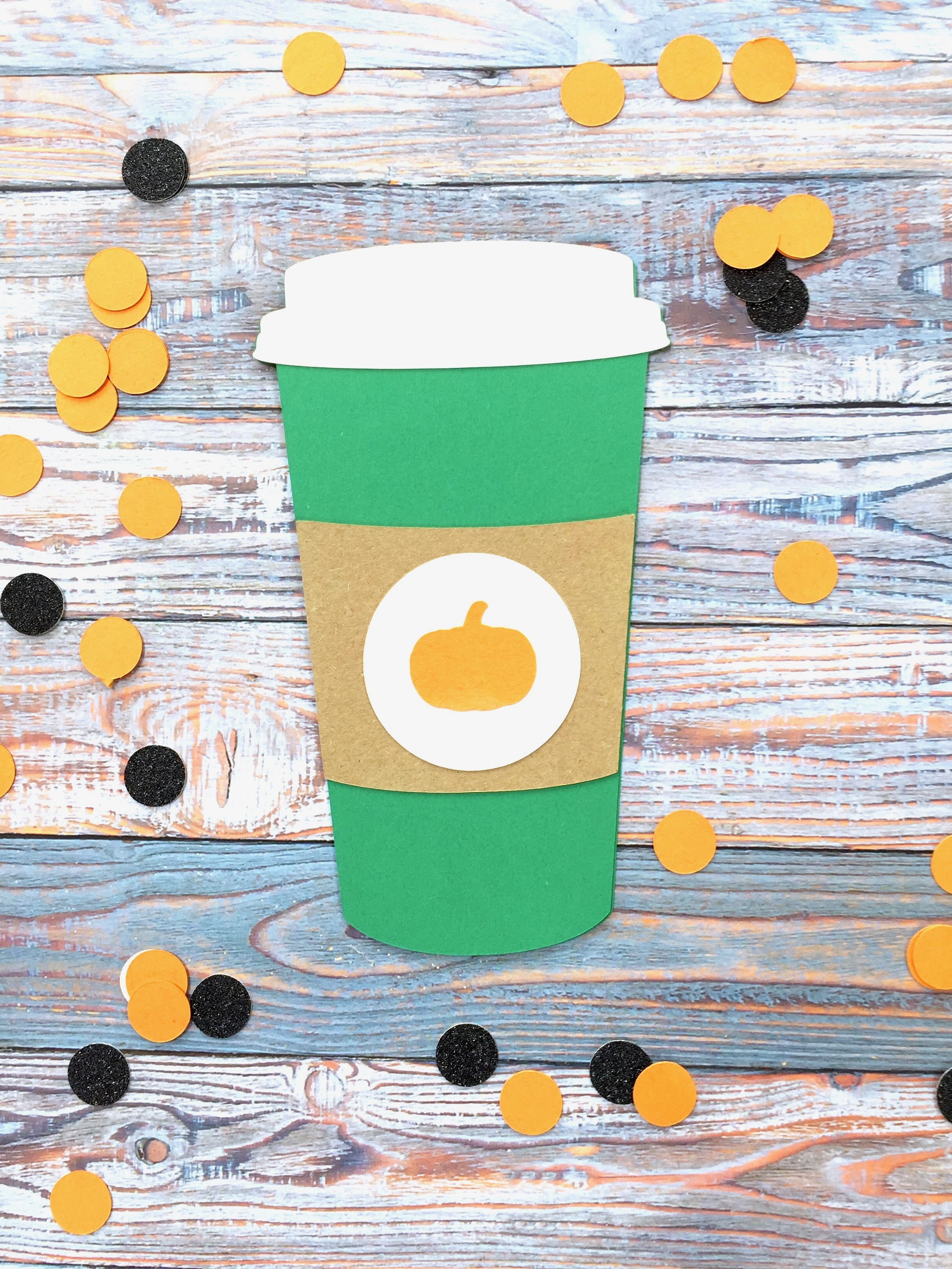 Pumpkin Spice Latte Gift Card Holder