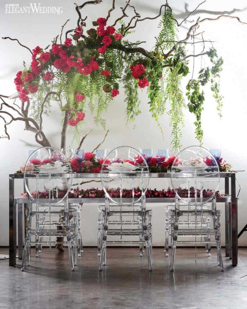 Wedding Decor Table Setting Floral Boho Chic