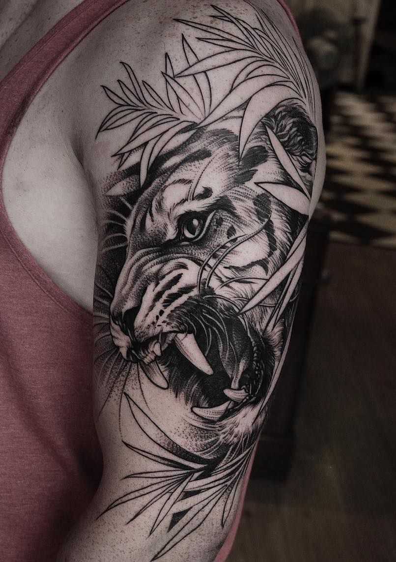 Tatouage Tigre Avant Bras Homme Kolorisse Developpement