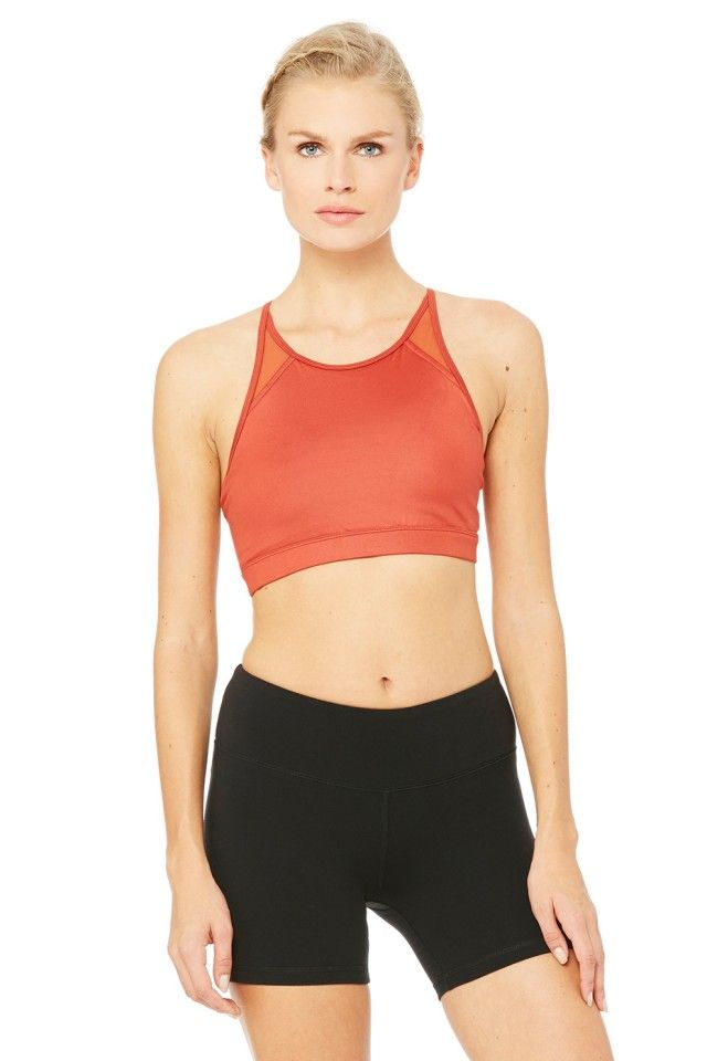 d61f18f92e1c2 The Alo Yoga Starlet Bra is the perfect cropped fit with mesh details for  breathability