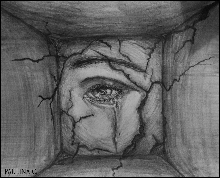sad eyes pencil drawings