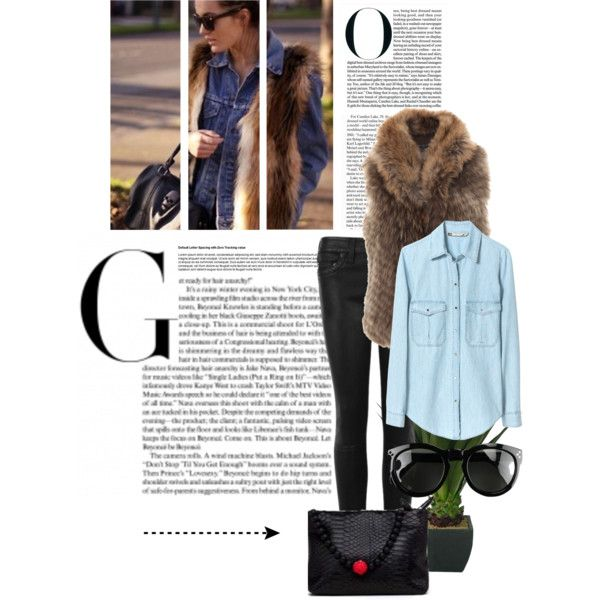 """""""Fur Over Denim"""" by freedom24 on Polyvore"""