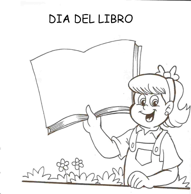 Día internacional del libro: Dibujos para colorear | CLIP DIBUJOS ...