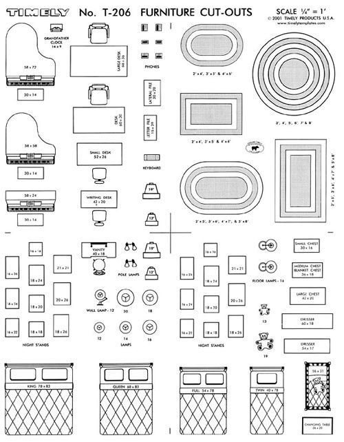 Furniture Arranging Kit 1 4 Scale Interior Design Interior