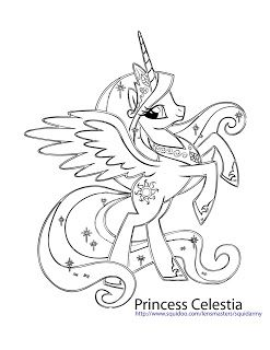 My Little Pony Coloring Pages Princess Celestia Kids And Crafts