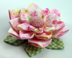 Lotus Fabric Flower Tutorial PDF Flower Pattern no by aSundayGirl, $6.00