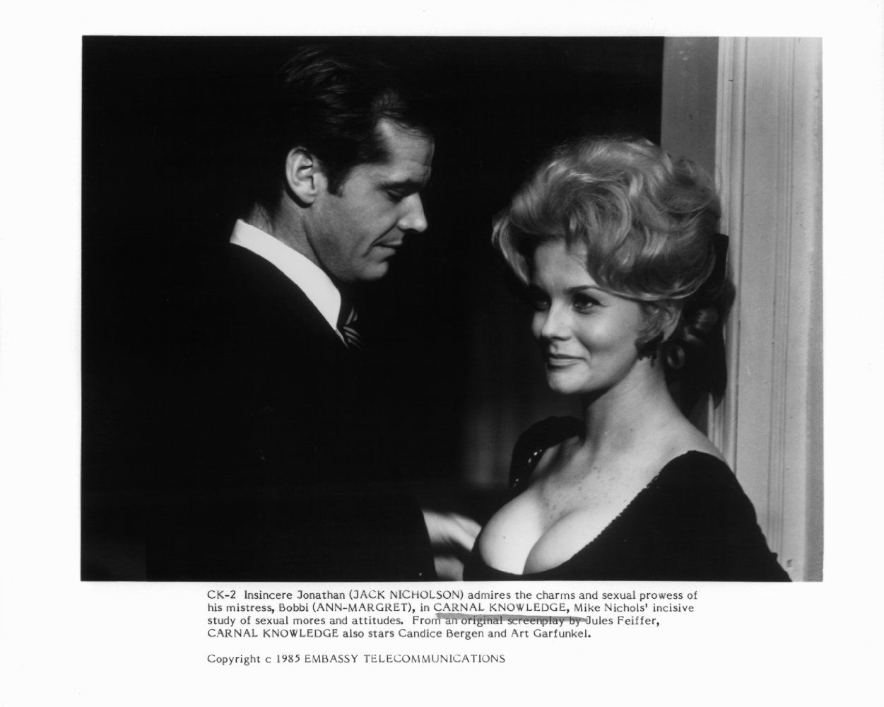 Jack Nicholson and Ann-Margret in Carnal Knowledge