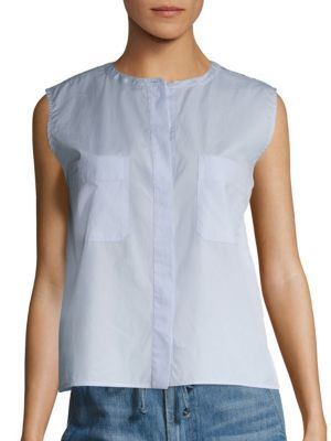 VINCE Cropped Cotton Shirt. #vince #cloth #shirt