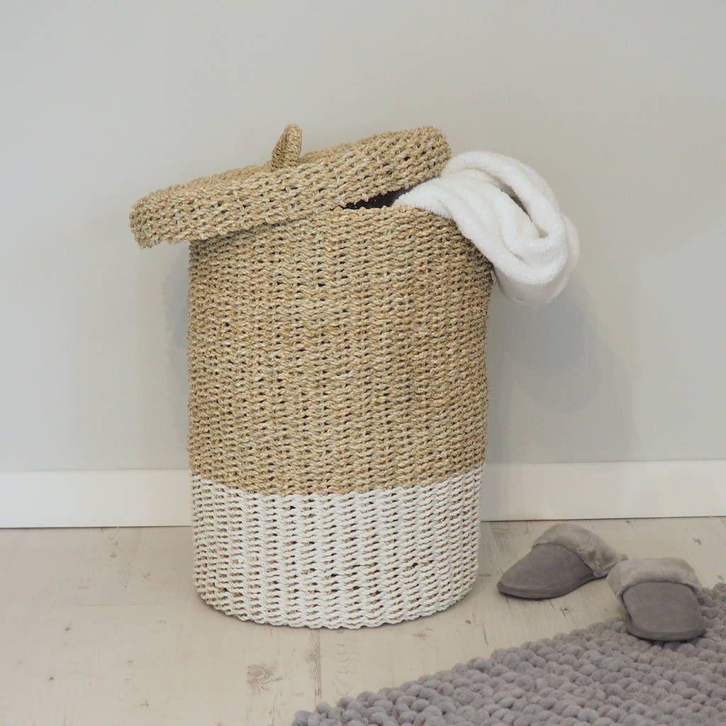 Wicker Linen Basket Linen Baskets Woven Laundry Basket Wicker Basket With Lid