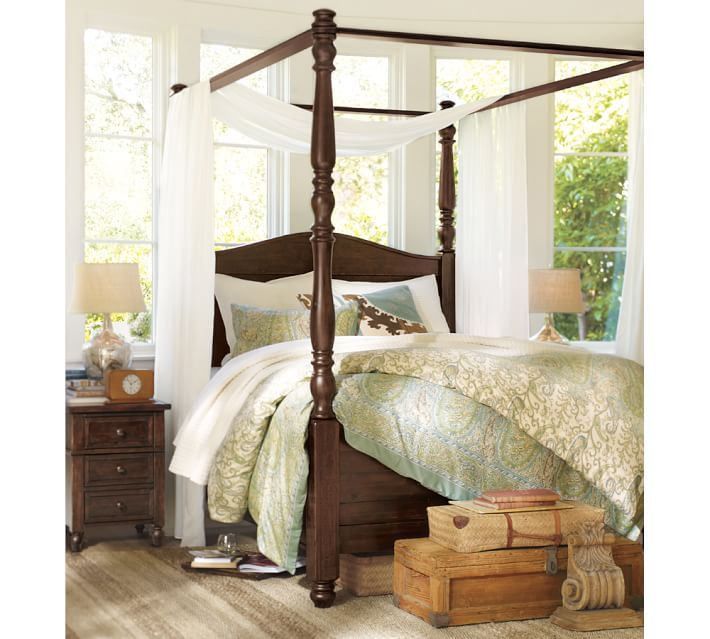Awesome How to Drape A Canopy Bed