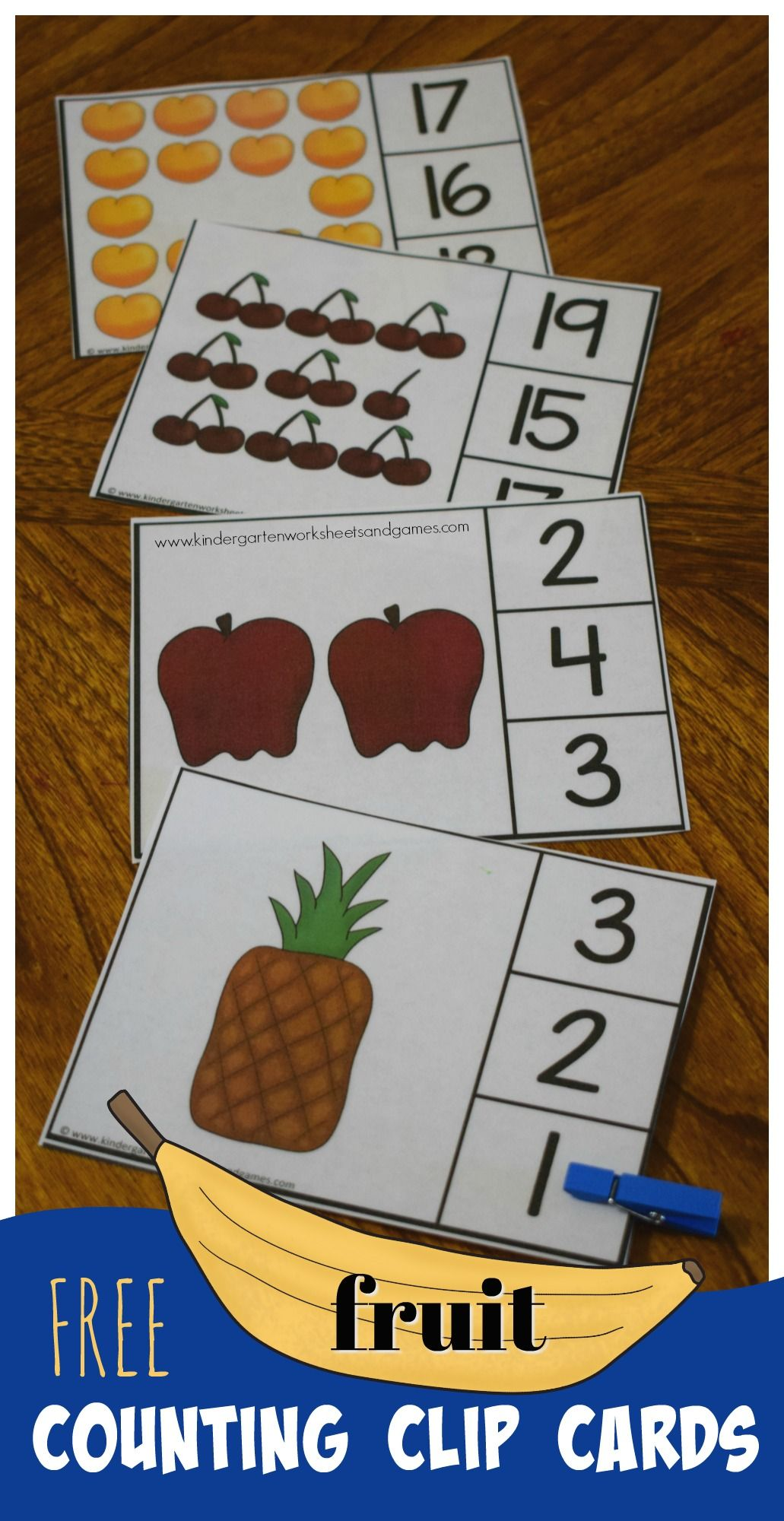 Free Count To 20 Fruit Clip Cards Are A Fun Way For