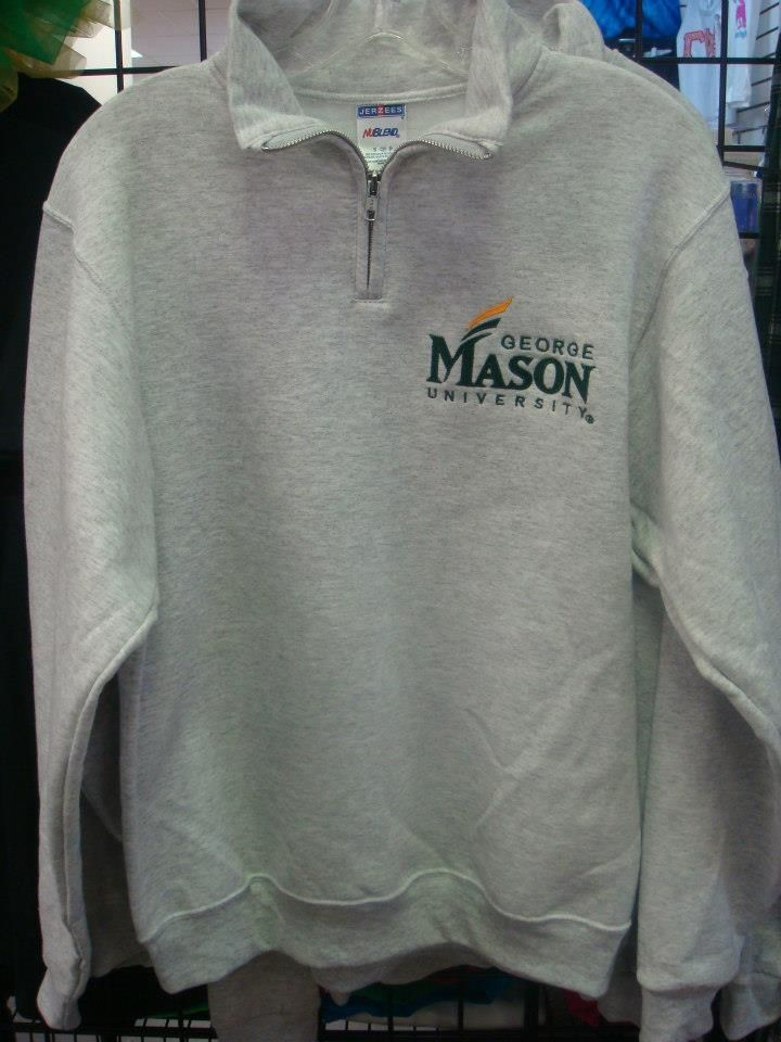 Quarter Zip George Mason University sweatshirt