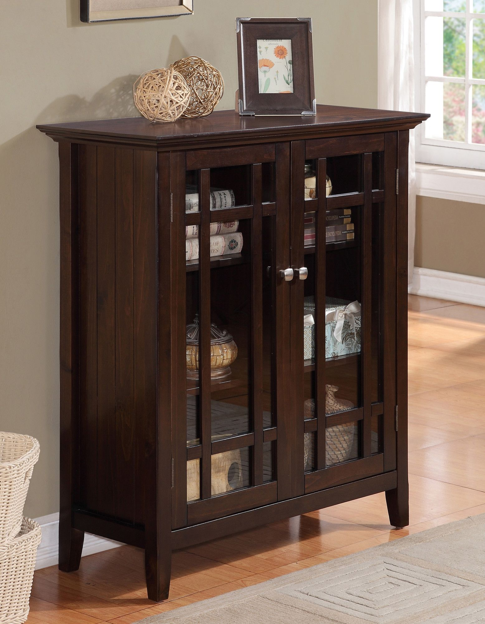 Simpli Home Bedford Storage Media Cabinet and Buffet & Reviews