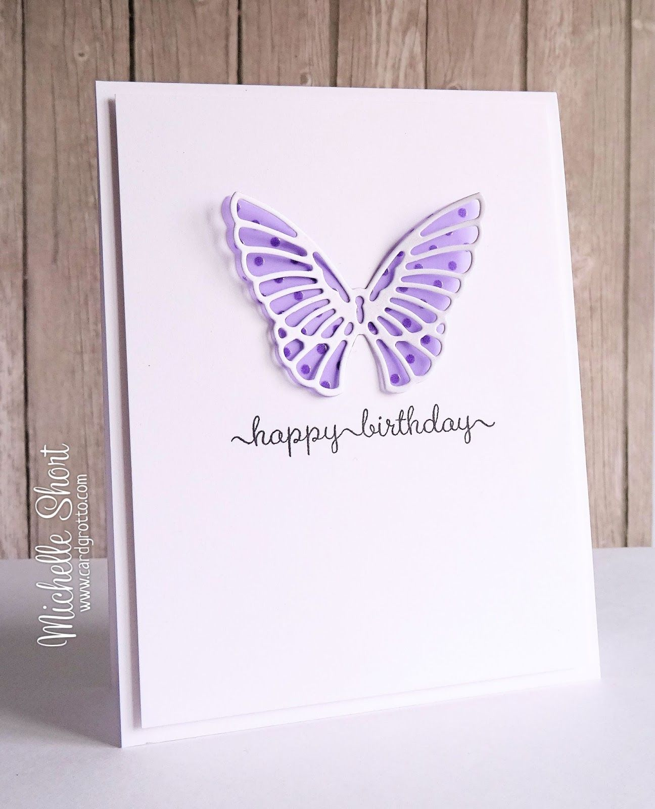 Handmade Birthday Card From The Card Grotto Butterfly Overlay