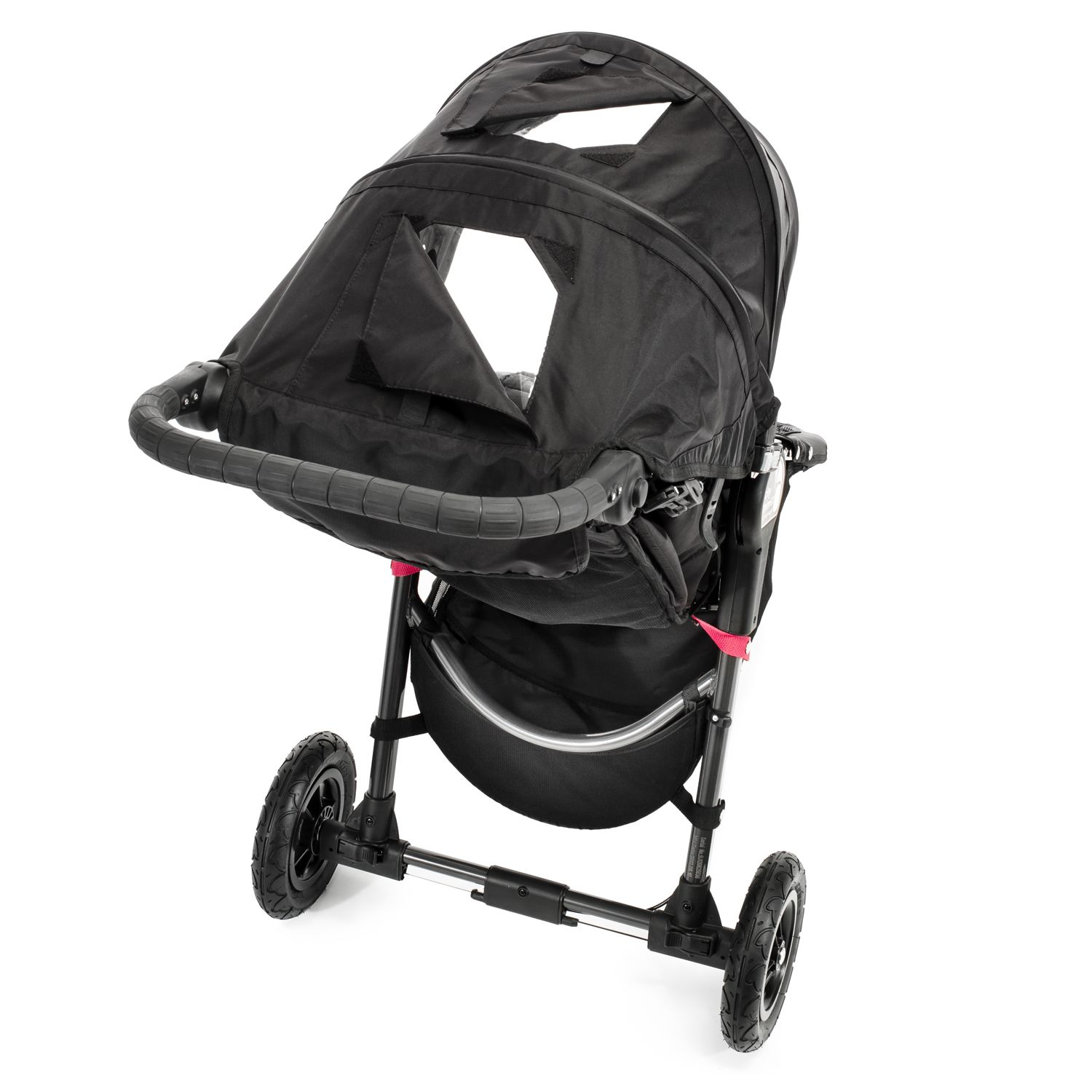 a top view of the Baby Jogger City Mini GT Single Stroller showing the windows