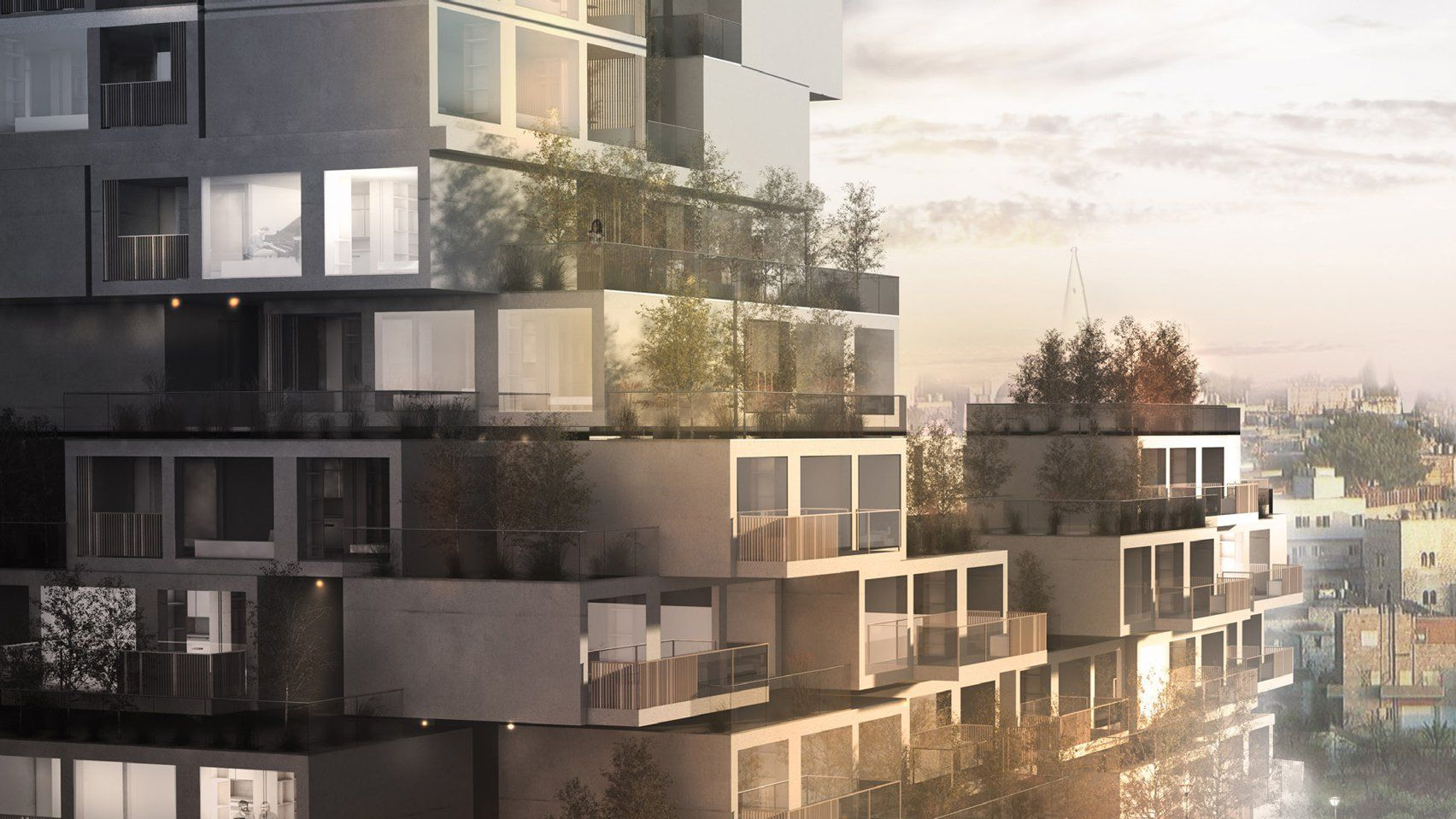 Weston Williamson Has Revealed A Housing Concept That Could Help Solve A Lack Of Affordable Housing In Palesti Amazing Architecture Building Affordable Housing