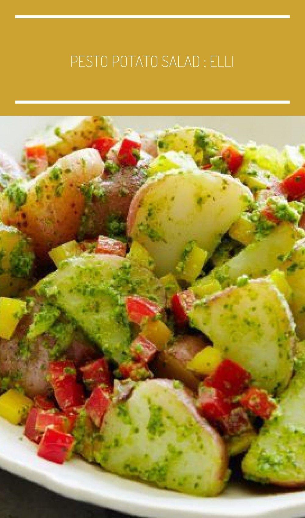 Pesto Potato Salad : Ellie puts a twist on basic potato salad by tossing boiled ...,  #Basic #Boiled #Drink #Ellie #Food #MealPlan #MealPlanning #Meat #Pesto #Planning #Potato #puts #Salad #Snacks #tossing #twist #ensaladas de verano de patata Pesto Potato Salad : Ellie puts a twist on basic potato salad by tossing boiled ...,  #Basic ...