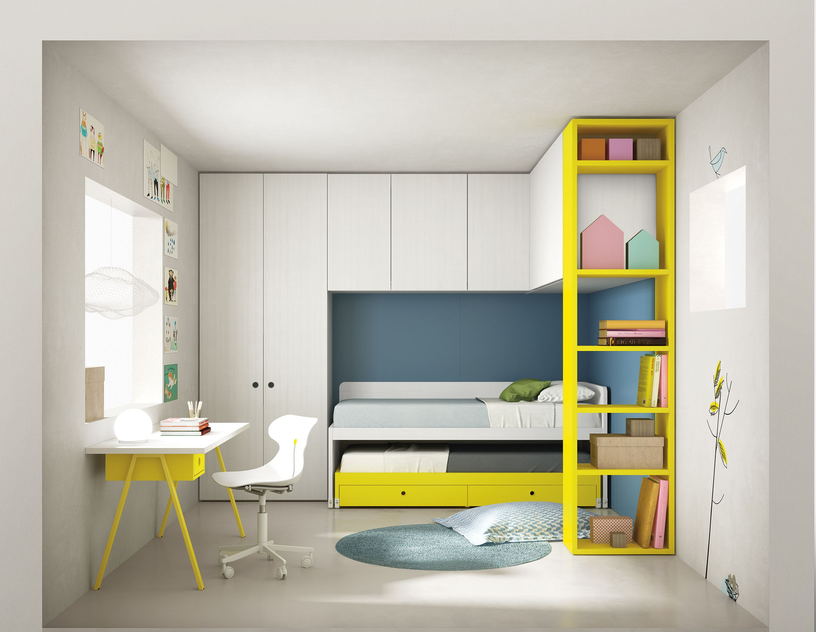 The new Nidi range of children s bedroom furniture great storage beds wardrobes desks