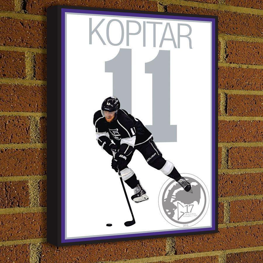 Anže Kopitar Canvas Print   Los Angeles Kings Hockey Poster Art, Wall Decor,  Home