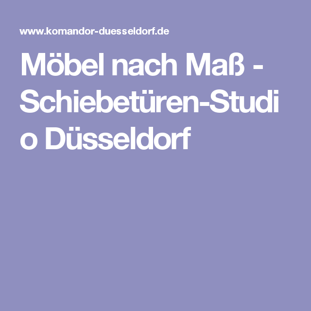 Fancy M bel nach Ma Schiebet ren Studio D sseldorf