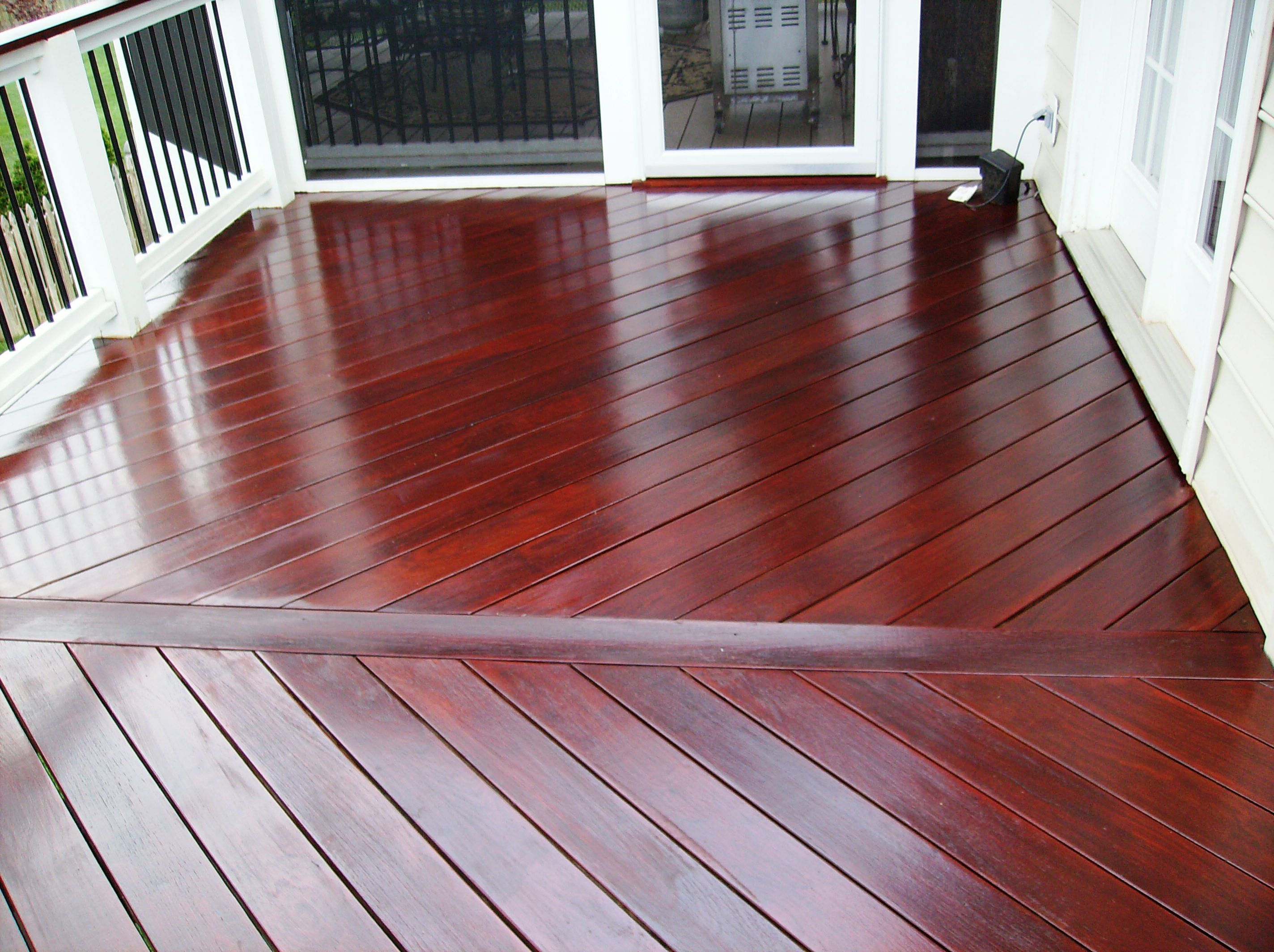 Most beautiful painting projects to try pinterest deck stain colors easy deck and decking - Red exterior wood paint plan ...