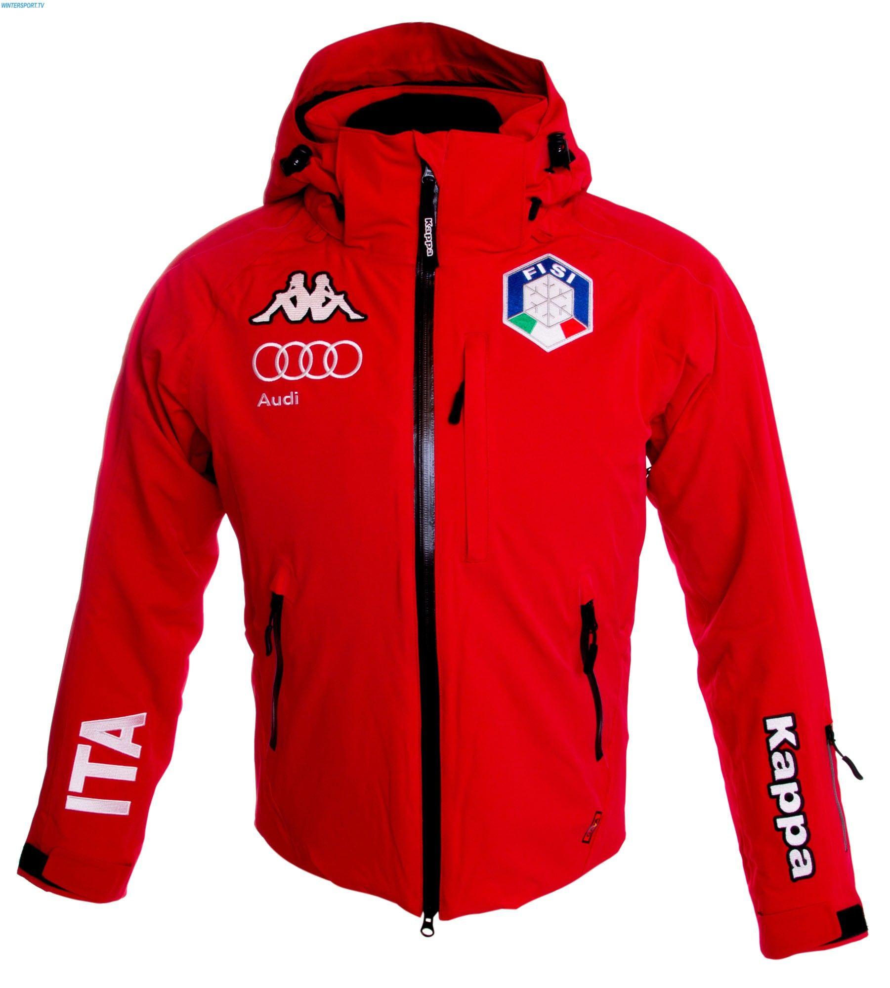 567ae1339efa Kappa Herren Italien Team FISI Jacke – Red Αλπικό Σκι