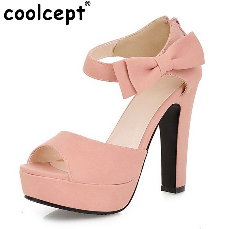Ladies Womens Block Heel Summer Sandals Ankle Strappy Peep Toes New Shoes Size