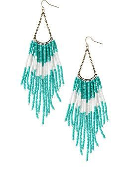 Womens two tone beaded chandelier earrings old navy crafting womens two tone beaded chandelier earrings old navy mozeypictures Choice Image