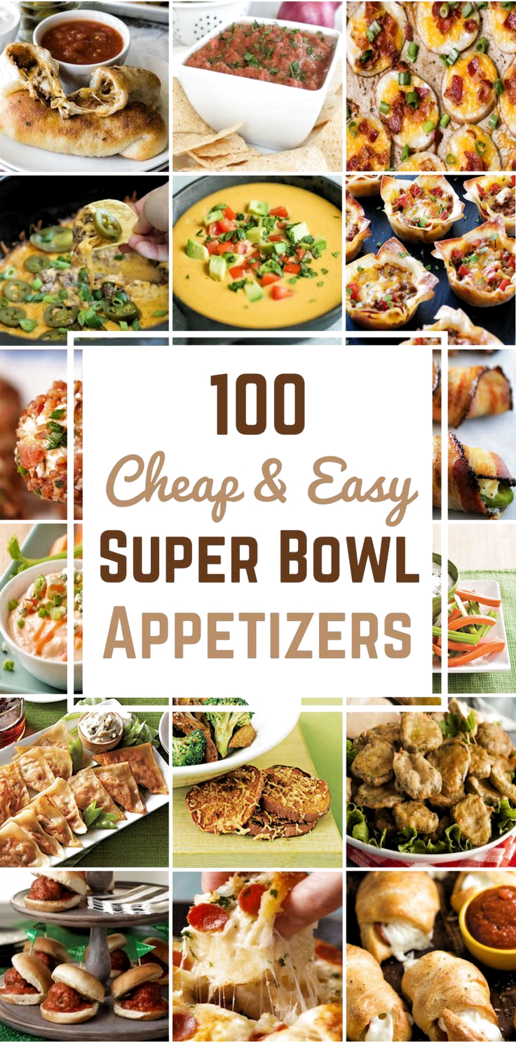100 Cheap & Easy Super Bowl Appetizers - Prudent Penny Pincher #Appetizers #Bowl #Cheap #Easy #Super