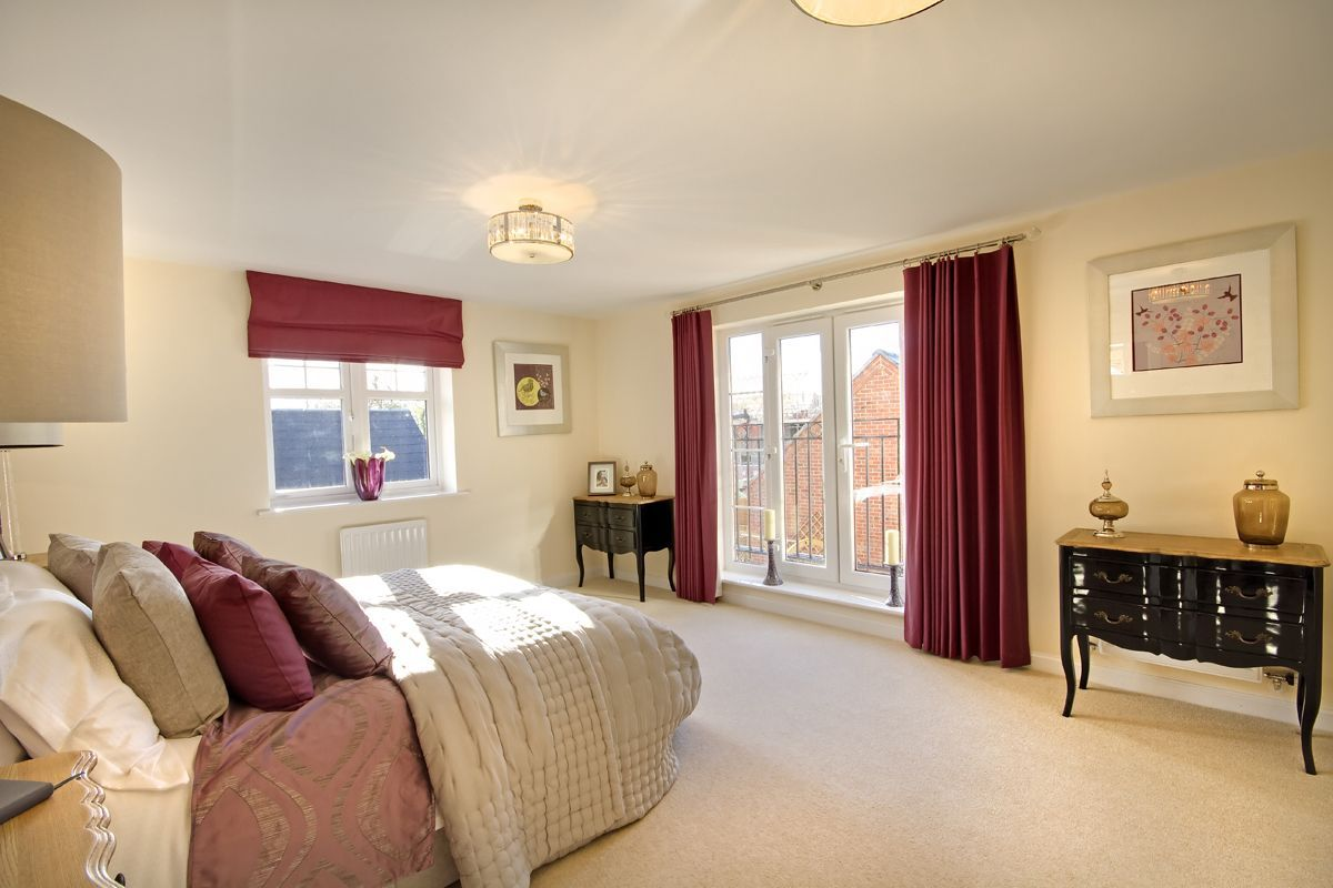 Purple curtains the gaskell at kingsmere in bicester bovis homes