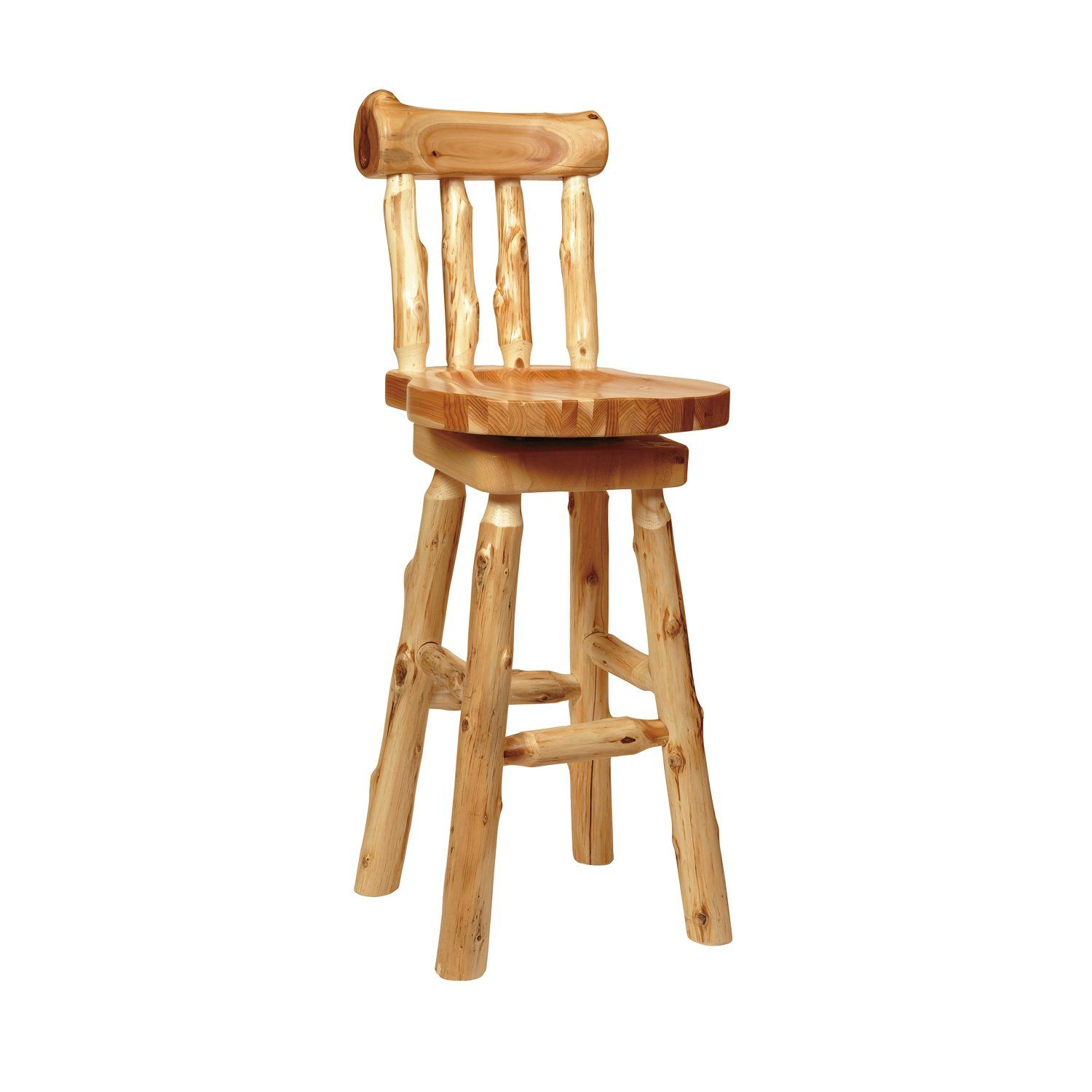 Shop Fireside Lodge Furniture 1622 Cedar Log Bar Stool at ATG Stores