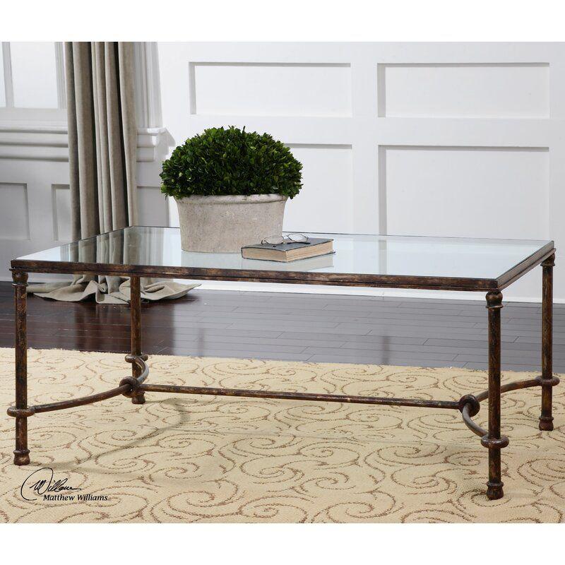 Josefina Coffee Table Reviews Birch Lane In 2020 Iron Coffee Table Bronze Coffee Table Coffee Table