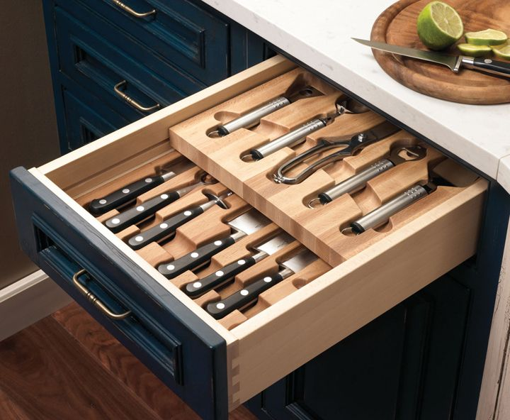 Knife Knives Hidden And Neatly Arranged With This Drawer Insert Also Label Each Where It Goes